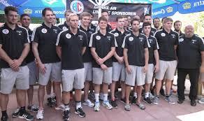 Bad Erlangen Handballer Des Hc Erlangen In Der Vorbereitung Mit Vielen