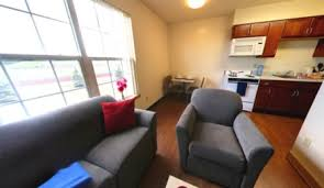 Bedroom And Kitchen Flint Village Apartments Campus Living University At Buffalo