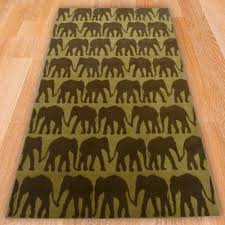 mini elephant print rug carpet runners uk