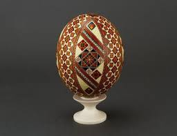 painted ostrich egg madeheart ostrich easter eggs