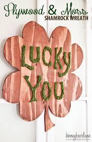 Shamrock Decorations Home Plywood St Patrick U0027s Day Wreath