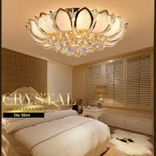 gold ceiling light fixtures modern lotus flower crystal ceiling l gold ceiling light fixture