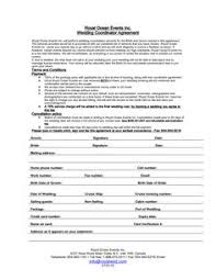 starting a wedding planning business wedding contract template contracts questionnaires