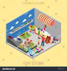 Shop In Shop Interior by Flat 3d Isometric Toy Store Web Stock Vector 323903972 Shutterstock