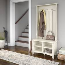 Real Simple Split Top Bench Storage Unit Instructions by Hall Trees You U0027ll Love Wayfair