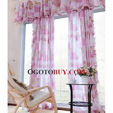 Discount Curtains And Valances Classic Plaid And Beautiful Floral Pattern In Pink Color Kids