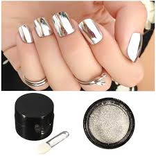 5g silver mirror metallic nail powder chrome pigment glitter