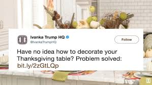 ivanka s thanksgiving decoration advice didn t go well