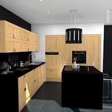 cuisine avec credence inox étourdissant modele cuisine avec ilot collection et modele cuisine