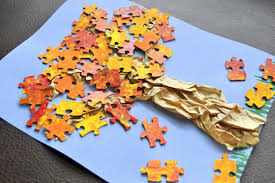 fall puzzle trees crafts for pbs parents