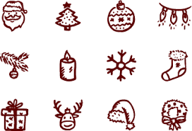 merry icons free u2013 free christmas vector icons by hand drawn goods