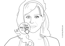 celebrity coloring pages famous people coloring pages with