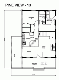 golden eagle log homes floor plan details pv 13