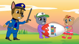 paw patrol babies confusion stealing suprise eggs police in prison