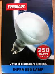 250 watt infrared heat l bulb 250w es e27 in heat l bulb clear amazon co uk diy tools
