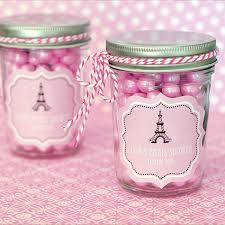 jar favors parisian party personalized mini jars