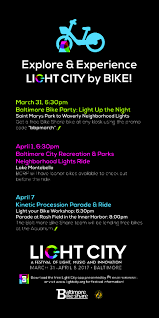 lights fest promo code your guide to experiencing light city by bike bikemore