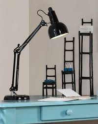 furniture inspiring black halogen swing arm desk lamp and round