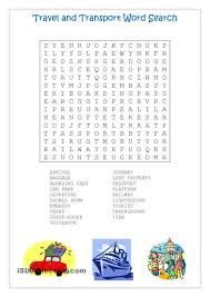 Gerund Or Infinitive Worksheet Travel And Transport Word Search Travel English Pinterest