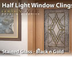 stained glass door film stained glass window film etsy