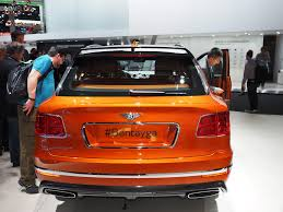 orange bentley bentley bentayga is one odd looking suv