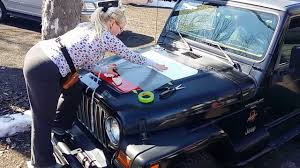 jeep army star jeep hood decal installation youtube