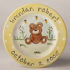 baby birth plates personalized painted new baby gift plate with pram design