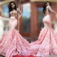 gorgeous 2k17 pink long sleeve prom dresses see through long