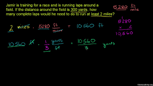 measurement word problem running laps video khan academy