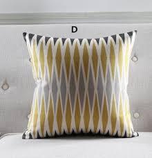 IKEA style striped decorative pillows for sofa 18 inch geometric