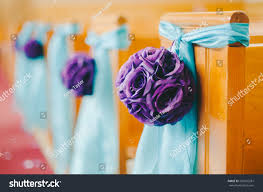 purple aqua wedding ceremony decorations stock photo 202655281