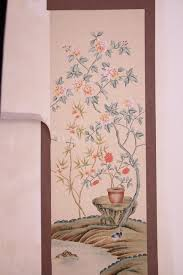 classic hand painted silk wallpaper painting painting flowers with