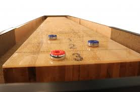 9 Foot Shuffleboard Table by A Guide To Shuffleboard Sizes And Your Homemcclure Tables