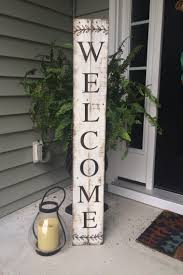 Fall Decorations For Outside The Home 30 Easy Diy Front Porch Sign Ideas For Your Home Pallets Porch