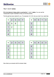 multiplication to 5 5 worksheets for 2nd grade alluring blank