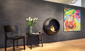 view in gallery wall mounted fireplace from vauni