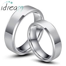 Engraved Necklaces For Couples Tungsten Wedding Bands Personalized Tungsten Carbide Wedding