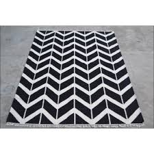 Modern Kilim Rugs Handwoven Woollen Durrie Modern Kilim Rug Sweden 1054 Black