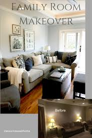 family room makeover blue and gray family room makeover classic casual home