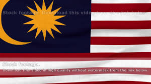 Malaysai Flag National Flag Of Malaysia Flying On The Wind Youtube