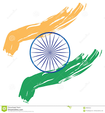 White Blue Orange Flag India Flag Stylized Paint Stroke Orange Saffron White Green Blue