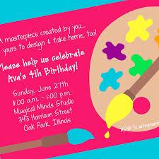 painting birthday party invitation wording alanarasbach com