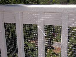 child proof railings and decks or balconies with deck netting