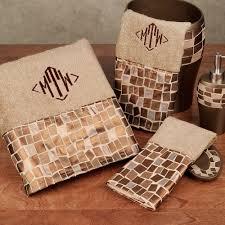 Burgundy Bathroom Rugs Linen Mosaic Stone Towel Set Bath Hand Fingertip Mosaic Bathroom