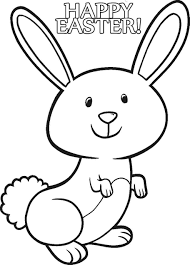 easter bunny cartoons coloring page free download