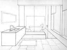 bathroom sketch in perspective by bryant littrean dribbble