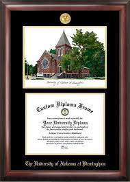 of alabama diploma frame of alabama birmingham gold embossed diploma frame products