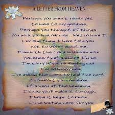 a letter from heaven the grief toolbox grief pinterest
