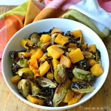 roasted brussels sprouts butternut squash veggies save the day
