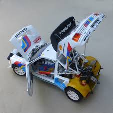 peugeot 205 rally peugeot 205 turbo evo 2 1986 model kit 1 24